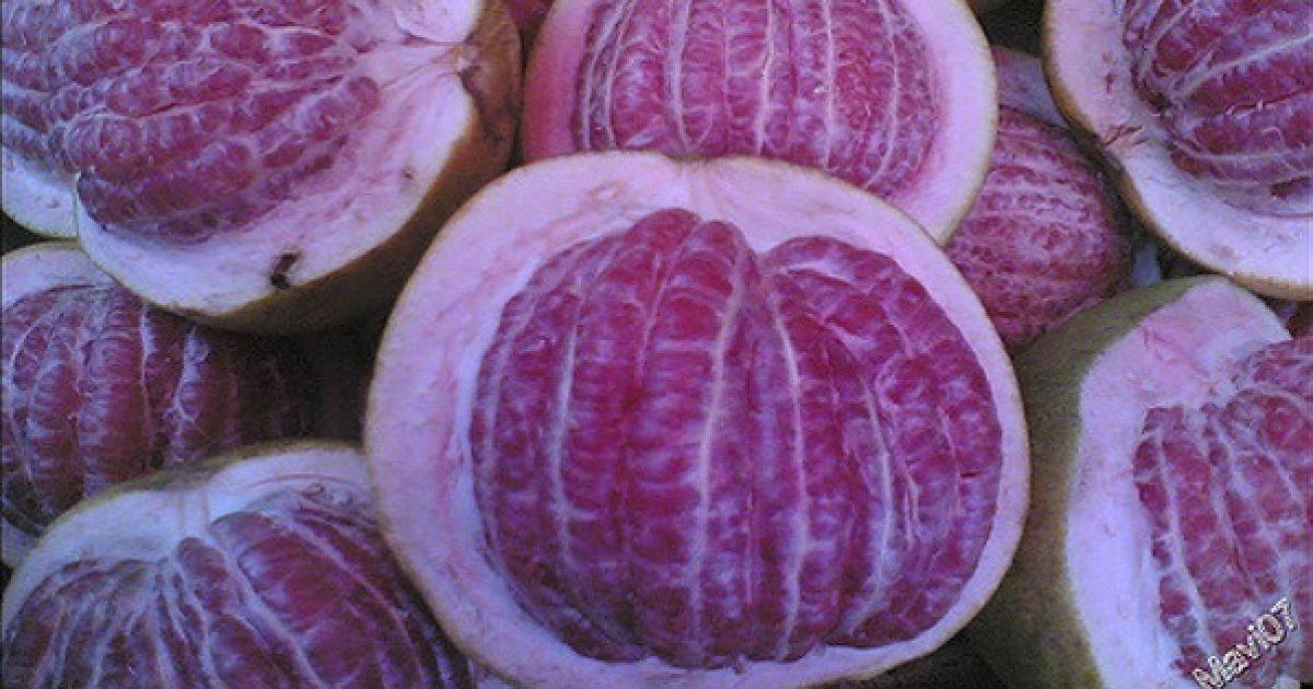 A pomelo édes, ha a héja ráncos